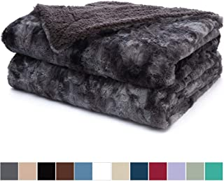 queen size faux fur blanket