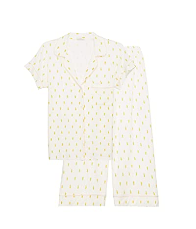 Eberjey Giving PJ Short Sleeve Cropped PJ Set (Pineapples/Bellini) Women