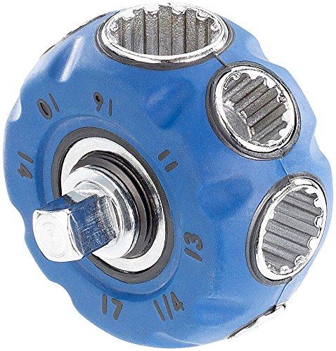 AGT Steckschlüssel: Hand-Schraubwerkzeug mit Steckschlüsseln, Bit-Aufnahme und Ratsche (Multi...