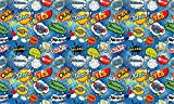 Autoadhesivo - Comic Pop Art blue PAT085 Papel Tapiz Adhesivo de PVC para Muebles