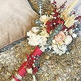 BOTANIC DESSIGN Bouquet de mariée en fleur naturelle préservée. Bouquet de fleurs artificielles pour banquet de mariage avec rose éternelle et hortensia préservée