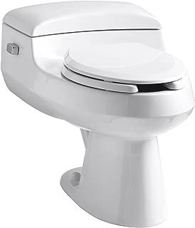 Kohler K-3597-NF-0 San Raphael Comfort Height Pressure Lite 1.0 gpf Elongated Toilet, White