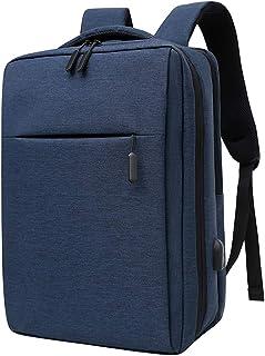 Mochila para portátil de 17.3 Pulgadas Múltiples Compartimentos con Puerto USB Mochila de Viaje de Negocios al Aire Libre Impermeable a Prueba de Agua Anna