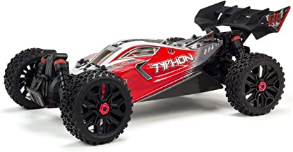 ARRMA 1/8 TYPHON 4X4 3S BLX Brushless 4WD RC Buggy RTR with 2.4GHz Radio (Battery Not Included), Red (ARA102722)