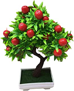 litymitzromq Artificial Flowers Outdoor Plants, 1Pc Potted Artificial Fruit Tree Bonsai for Home Desk Patio Yard Garden Stage Office Wedding Restaurant Party Cafe Shop Decoration Gift