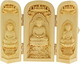 Prettyia Oriental Boxwood Handwork Carved Buddha Statue Collection characteristi - Style-2, as described