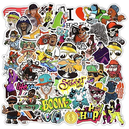 Hip Hop Pegatina Cool Dj Rap Graffiti Rock Vinilo Pegatinas Para Adultos Diy Bike Laptop Skateboard Pegatinas Pegatinas Impermeable 50 Piezas