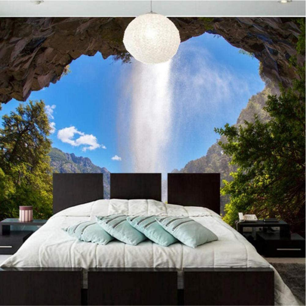 Pbldb Custom 3D Wall Ranking TOP12 Mural Waterfall Sky Natural Blue Wallpaper Directly managed store