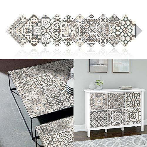 20x20cm Adhesivo para Azulejos de PVC Impermeable, Pegatinas de Baldosas Autoadhesivo, Vinilos para azulejos para cocina y baño (A)