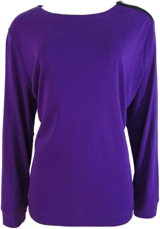 Ralph Lauren Jeans Co. Women's Long Sleeve Crewneck Purple ElderBerry