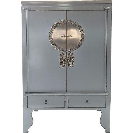 Hochzeitsschrank Vintage Schrank chinesische Möbel Kommode Weiss Nachtkonsole