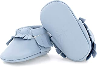 Soft Sole Leather Moccasins - Newborn Baby Girl/Boy Shoes - Multiple Colors