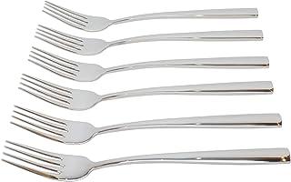 FOKNSPRA Premium Dinner Fork 6 Pieces, Stainless Steel 8.7 Inch Forks Silverware, Table Forks Set of 6 -pack