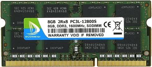 8GB DDR3L-1600 Sodimm, DUOMEIQI 8GB DDR3 PC3-12800 DDR3 1600 PC3/ PC3L-12800S DDR3 8GB Ram 2RX8 204pin 1.35v/1.5v CL11Notebook RAM Memory Module for Intel AMD and Mac System Laptop