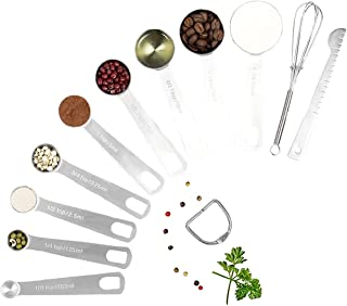 12 Piece Measuring Spoons Set in Stainless Steel Cooking & Baking