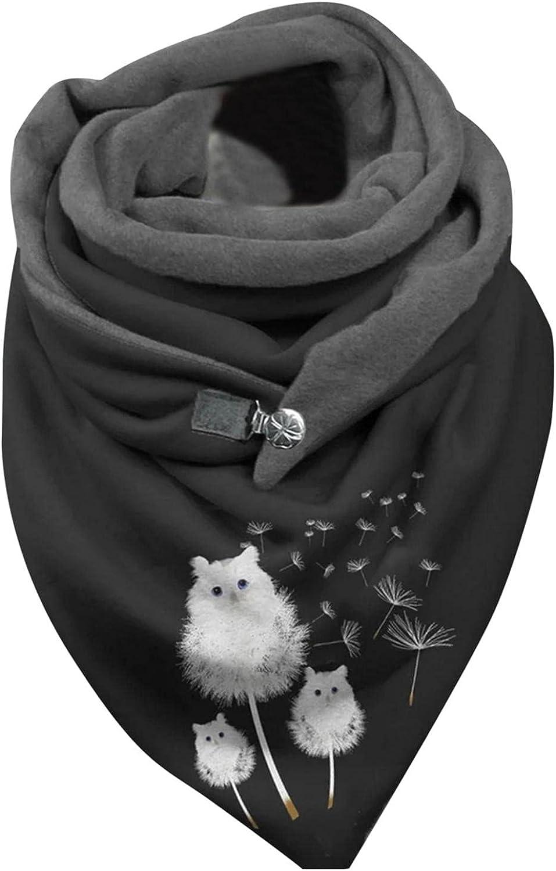 Changeshopping Womens Scarf Winter Fashion Casual Printed Soft Wrap Casual Warm Scarves Shawls