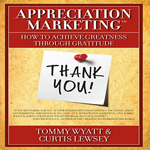 Appreciation Marketing audiobook cover art