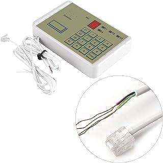 Zyyini Marcador de teléfono, teléfono de 12 V Sistema de Alarma de la casa de Seguridad antirrobo Marcador automático de Voz por Cable
