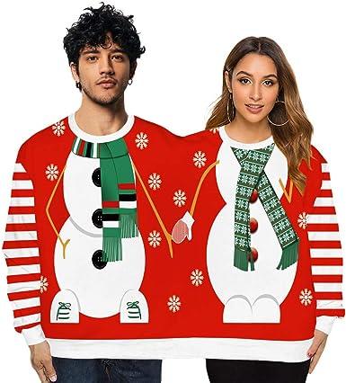 K-Youth Sr. y Sra. Pareja Sudaderas Mujer Navidad Tumblr ...
