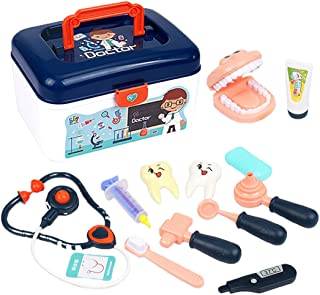 YHomU Dentist Toys Set Small Educational Realistic Doctor Equipment Toy for Kids Boys Girls Toddlers Children Friends Pret...