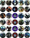 30 x Edible Cupcake Toppers – Transformers Themed Collection of Edible Cake Decorations | Uncut Edible on Wafer Sheet