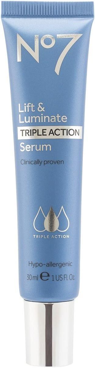 Amazon Com No7 Lift And Luminate Triple Action Serum 1 Ounce Beauty
