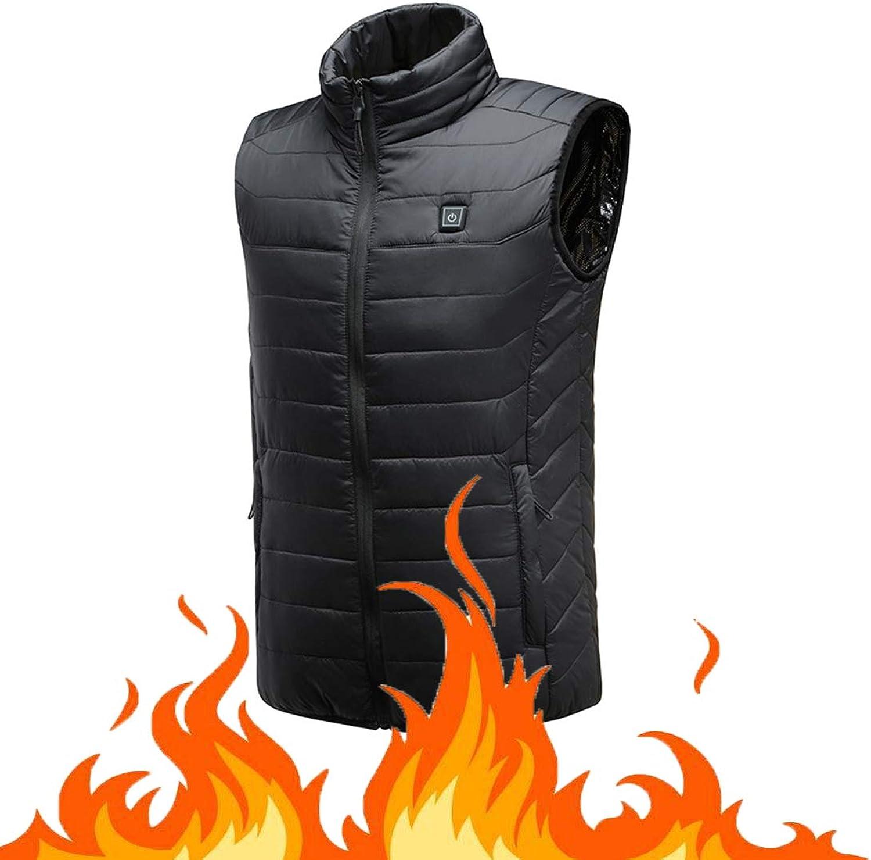 Men's Heated Vest Rechargeable Windproof USB,Winter Outdoor Sport Warm Insulated Vest