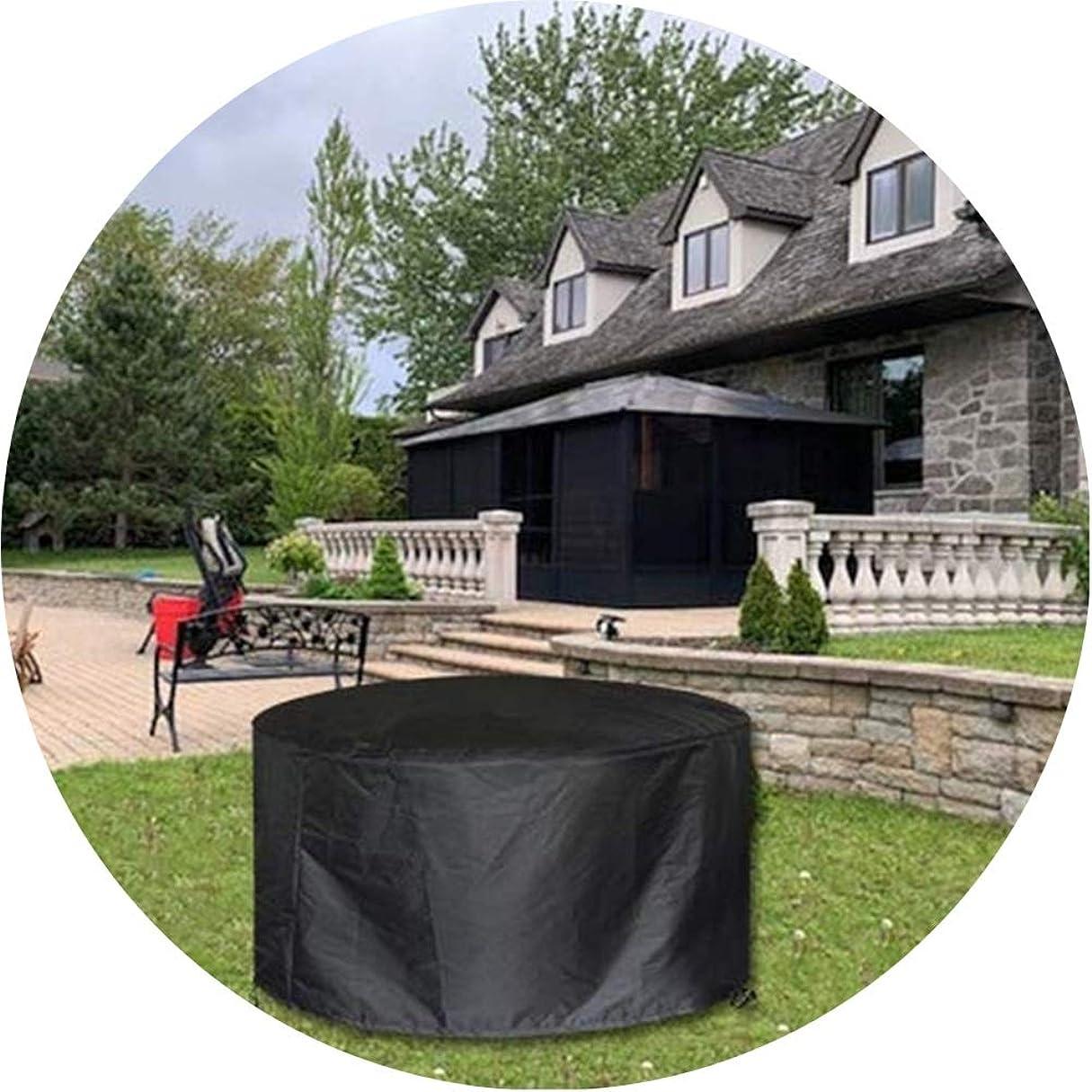 変装音節四WAHOUM ガーデン家具カバーオックスフォードの生地の黒い紫外線抵抗力があるために防水屋外の保護家具カバー 、25サイズ (Color : Black, Size : 0.7x0.7m)