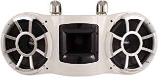Wet Sounds REV 410 Swivel Clamp Tower Speaker, fits 1-7/8in to 3in Pipes - White (Renewed)