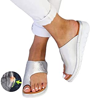 Bunion Sandals for Women Comfy, Big Toe Bone Slippers, Flip Flop Light Weight Ladys Shoes Wedge Sandals Suitable for Everyday Wear