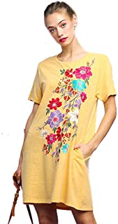 a543471759770 Umgee BoHo Beach Please! French Terry Embroidered Dress or Beach Cover