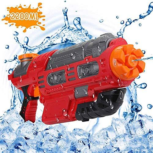 Sdesign Größte Wasserpistole, Transparent Schnellfüllfunktion Wasser Blaster for Kinder mit hohen Kapazität 2200cc Wasserpistole Sommer-Pool-Spielzeug for Kinder & Erwachsene