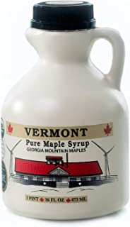 Georgia Mountain Maples of Vermont, Organic Maple Syrup, Amber Color Rich Taste, 16 oz