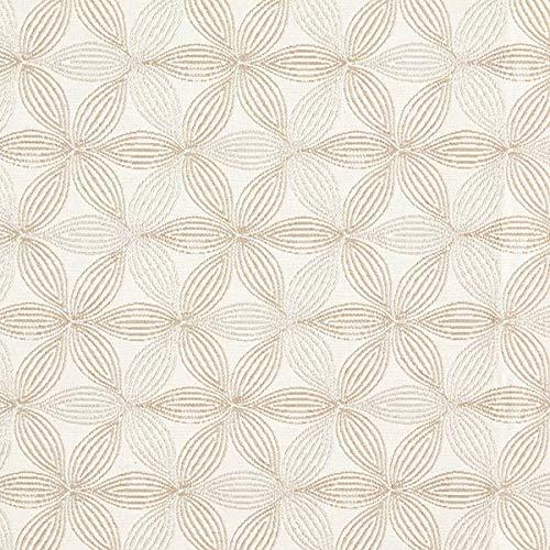 Dekostoff Jaquard Blume des Lebens klein – wollweiss/beige — Meterware ab 0,5m — zum Nähen von Homeaccessoires, Kissen/Tagesdecken & Sitzgelegenheit