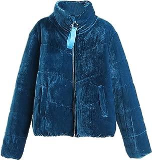 GAGA Women's Packable Down Jacket Lightweight Velvet Winter Puffer Bubble Outerwear Coat