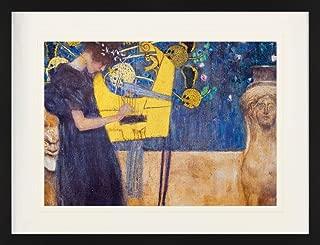 1art1 Gustav Klimt Framed Collector Poster - The Music, 1895 (31 x 24 inches)