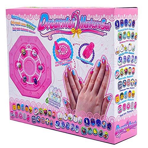 Topways® Mädchen Maniküre Nail Art Kit Geschenkset, Umweltfreundlicher Nagel Aufkleber & Abziehbilder Set DIY Maniküre Nail Art Zubehör