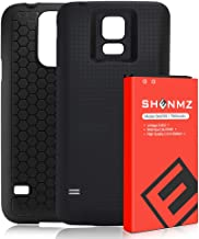 Galaxy S5 Battery,SHENMZ 7800mAh Extended Battery Replacement with Black Protection Cover Case (Up to 3X Extra Battery Power) for Samsung Galaxy S5 All Versions [ NFC/Google Wallet Compatible ]