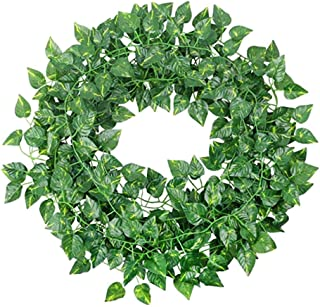 4M Artificial Ivy Leaf Garland Plants Vine Hanging Wedding Garland Fake Foliage Flowers Home Kitchen Garden Office Wedding...