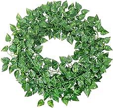 4M Artificial Ivy Leaf Garland Plants Vine Hanging Wedding Garland Fake Foliage Flowers Home Kitchen Garden Office Wedding...