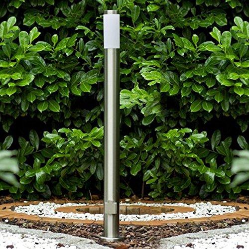 Lámpara de pie de acero inoxidable Sydney con enchufe
