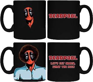 Bob Ross Deadpool Mug Coffee Heat Changing Painting