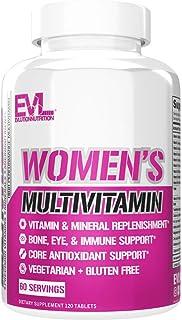 Sponsored Ad - Evlution Nutrition Women's Multivitamin - Full Spectrum Vitamins & Minerals, Immune Health, Vitamin C & D, ...