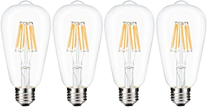 LEDMOMO Led Edison Bulb, W Dimmable Led Light Bulb, W Incandescent Equivalent E Medium Base Lamp As Shown