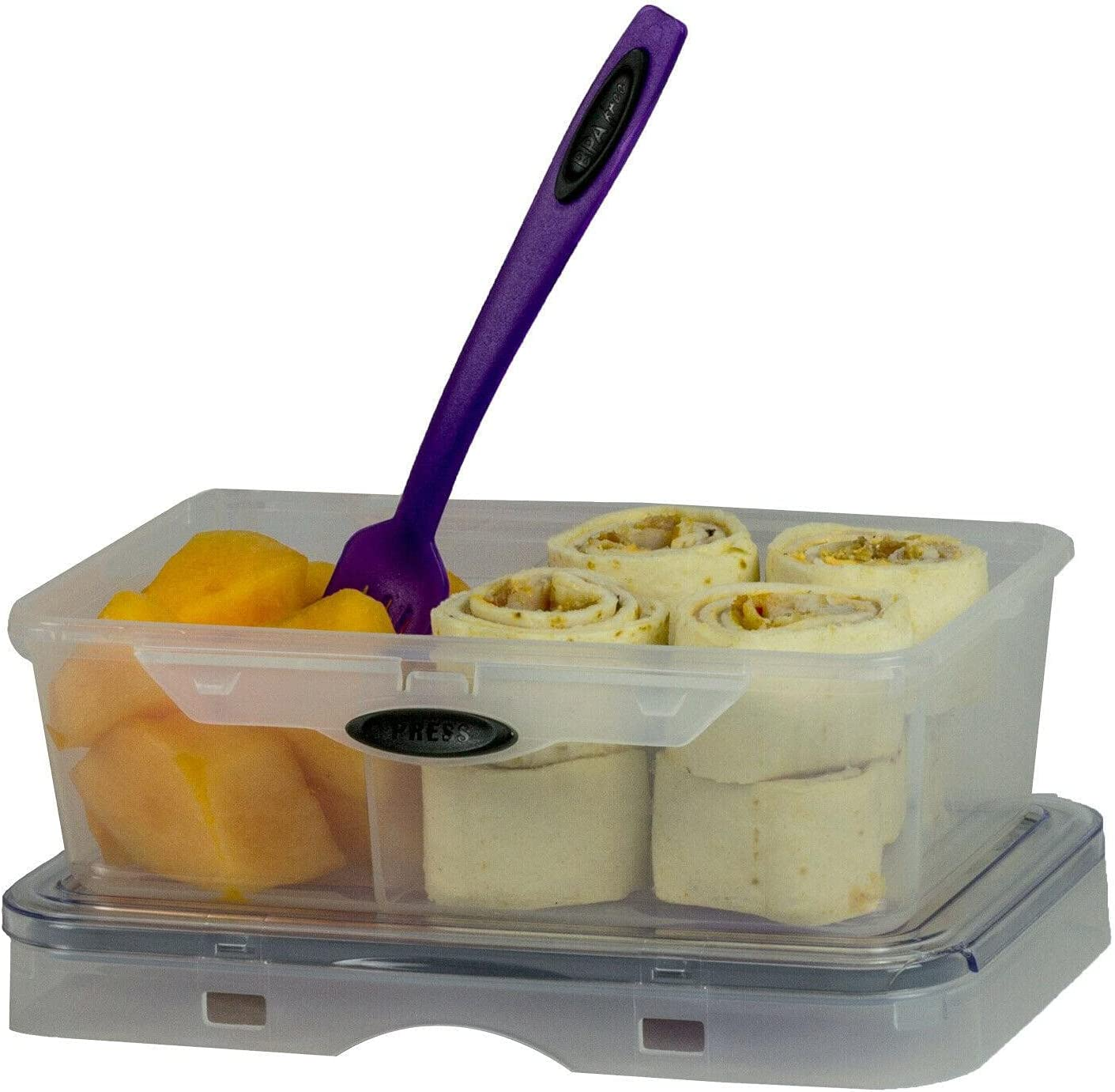 Storage Plastic 67% OFF of fixed price Year-end gift Container Cutlery Set Contai with 2 Compartments