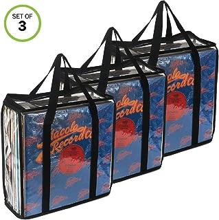 Evelots LP Vinyl Record Case-Storage-Carry108 Albums Total-No Dust,Scratch-Set/3