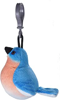 Wild Republic Eastern Bluebird Plush Clip, Stuffed Animal, Bird Toys for Kids, Birders, 4""