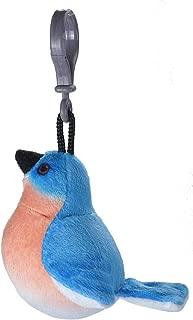 Wild Republic Eastern Bluebird Plush Clip, Stuffed Animal, Bird Toys for Kids, Birders, 4