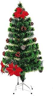 クリスマスツリー・飾り 現代のクリエイティブホリデーデコレーション/ルミナスファッションファー置物/子供の安全の木の彫刻 (Color : Green, Size : 1.5 m(5 ft))