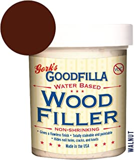 Water-Based Wood & Grain Filler - Walnut - 8 oz by Goodfilla | Replace Every Filler & Putty | Repairs, Finishes & Patches | Paintable, Stainable, Sandable & Quick Drying